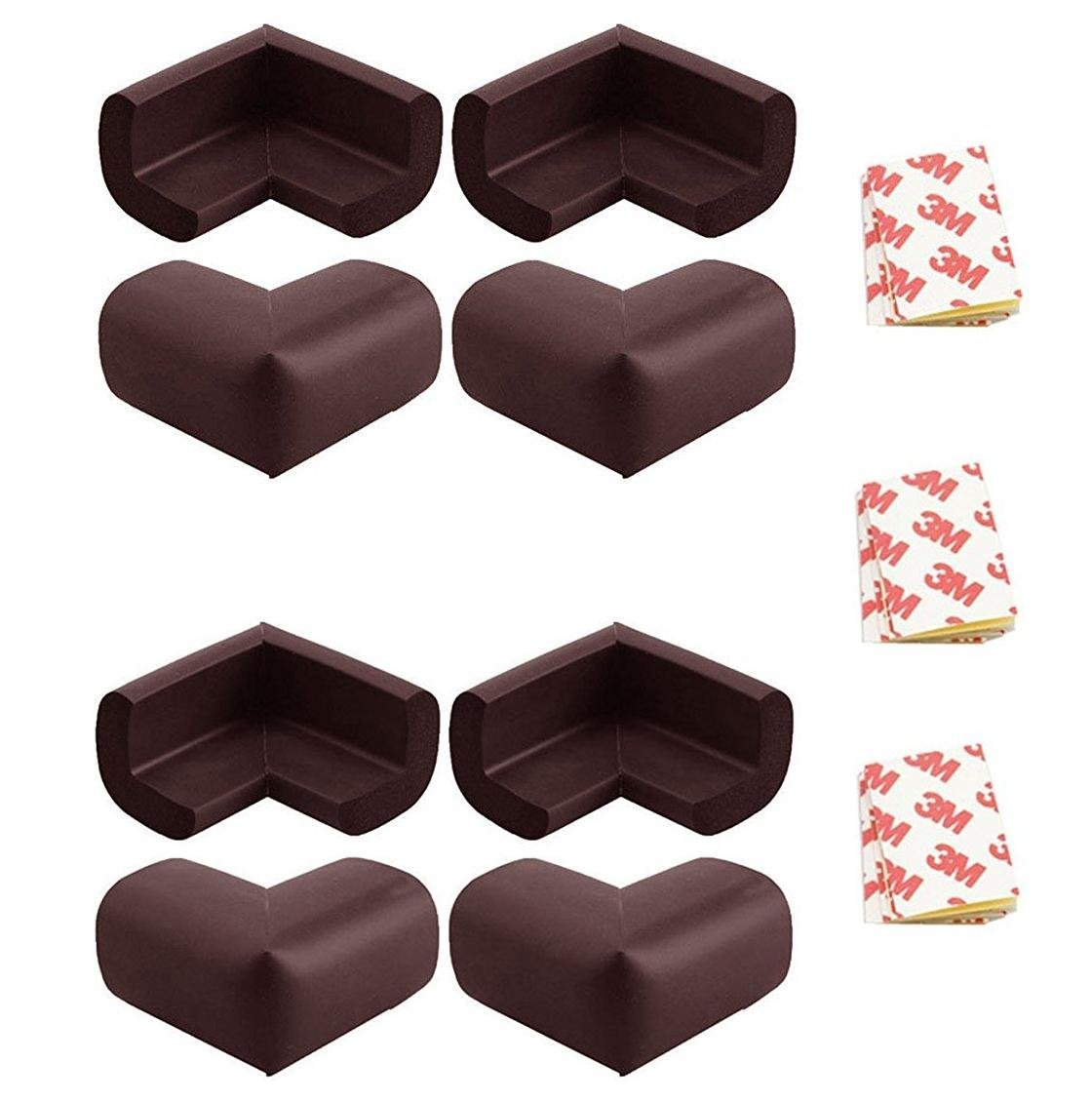 8pcs Child Baby Corner Edge Furniture Protectors Soft Safety Protection Cushion