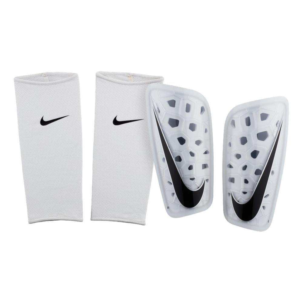 NIKE Mercurial Lite Soccer Shin Guards (X-Small, White)