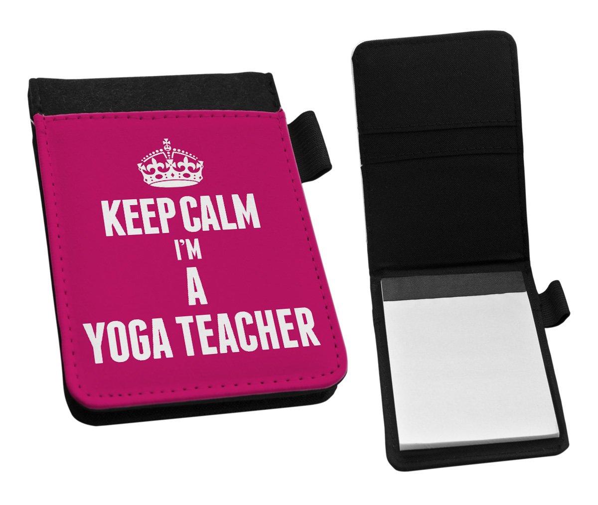 Rosa KEEP CALM I m un profesor de Yoga pequeño Bloc de ...