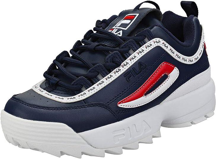 Fila Disruptor II Premium Mujer Zapatillas Navy: Amazon.es ...
