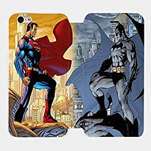 Superman Vs Batman Superhero Custom Flip Cover for Iphone 6 and Iphone 6 Plus (Flip Cover iPhone 6 plus)