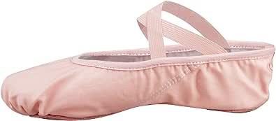 Zapatillas de Ballet Canvas Dance Zapatos Split (Negro y Rosa Claro) Le recomendamos Que Elija uno (1) Tamaño Más Grande Que su Tamaño Normal del Zapato