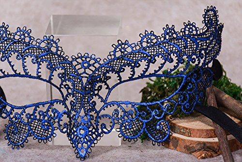 ABASSKY Masquerade Lace Mask Catwoman Halloween Cutout Prom Party Mask Accessories -