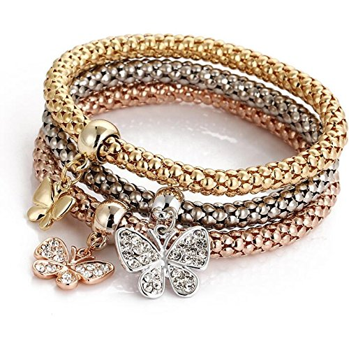 weel Unique Women's Butterfly Diamond Chain Bracelet & Bangle from Hithop
