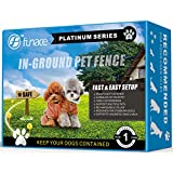 Invisible InGround Dog Fence System (Platinum) - Electric Underground Wired Pet Containment Kit - Waterproof & Rechargeable - For SM to XL Dogs over 10 LBS - 3 Modes: Vibration & Lo/Hi Shock (2 Dogs)