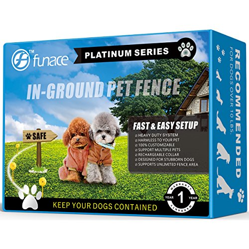 Invisible InGround Dog Fence System (Platinum) - Electric Underground Wired Pet Containment Kit - 100% Customizable up to 20 Acres - Protect Your Garden Bed & Stop Your Dog from Jumping Fence (2 Dogs) by FunAce