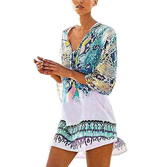 Damark(TM)) Vestidos Mujer Casual Vestido de Verano Largo Maxi Falda Mujer Elegante