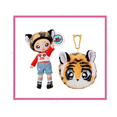 Fashion Doll Na Na Na Surprise 2-in-1 CJ Snuggles with Zippered Plush Tiger POM: Toys & Games