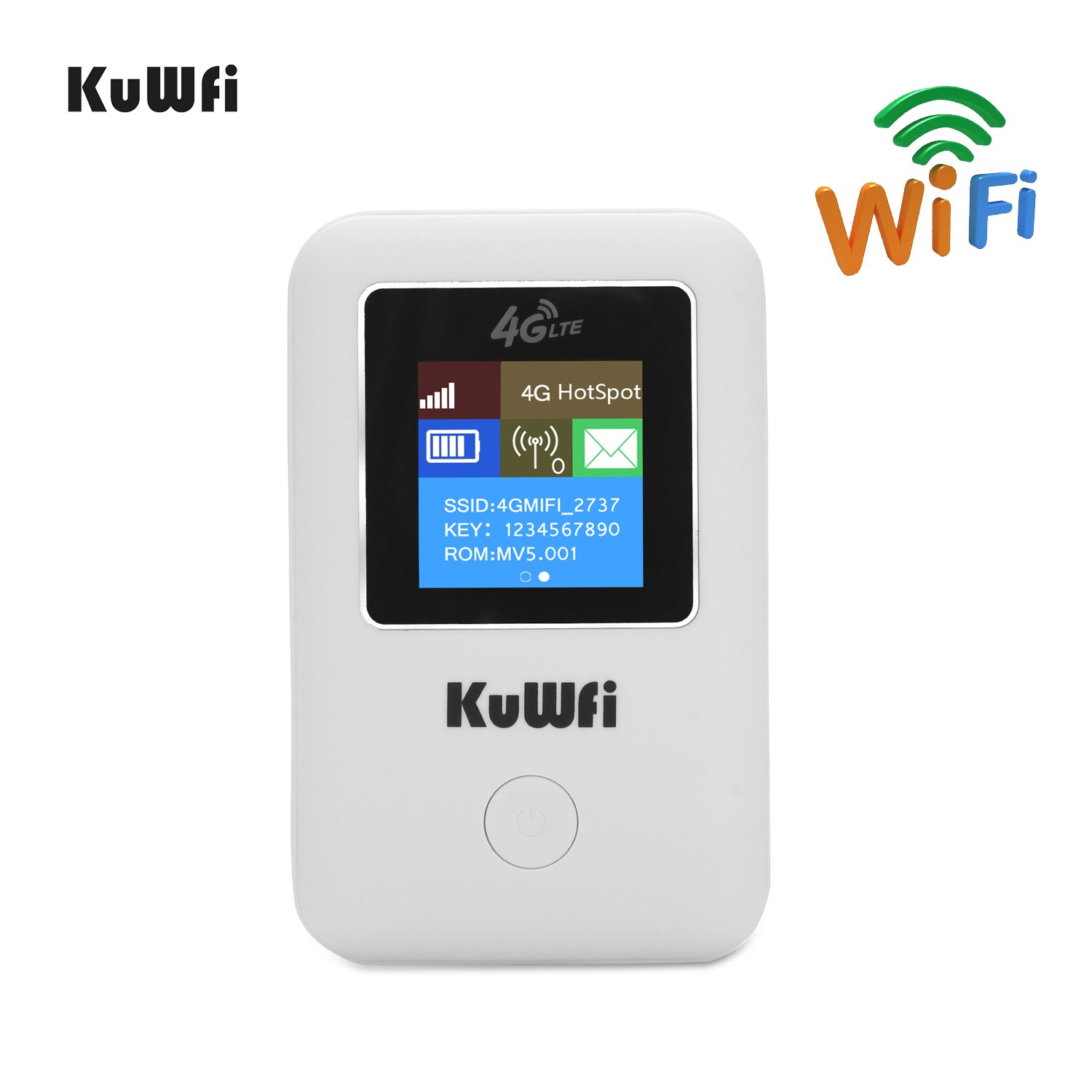4G WiFi Router,KuWFi Unlocked Pocket 3G 4G wifi router with sim card slot Support LTE FDD B1/B3/B5 Support Telus Canada sim card USA AT&T Caribbean,Europe,Asia, Middle East & Africa -LCD Display MF902
