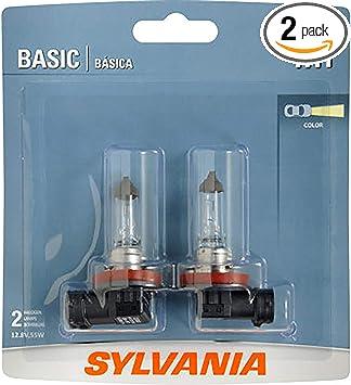 Contains 1 Bulb Fog 9003 SYLVANIA Halogen Bulb for Headlight and Daytime Running Lights Basic H4