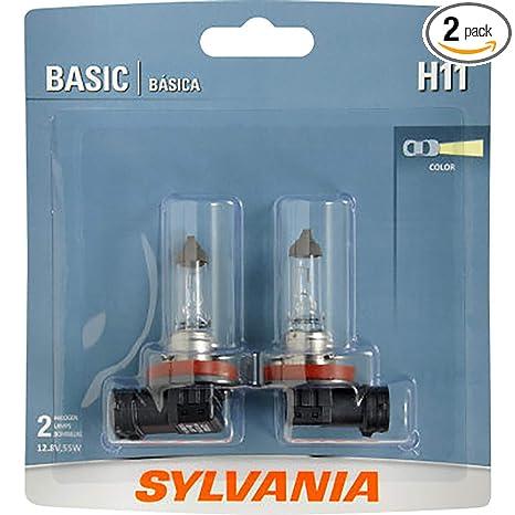 Sylvania Auto Bulb Guide >> Sylvania H11 Basic Halogen Headlight Bulb Contains 2 Bulbs