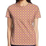 roomba yankee candle - WuLion Geometric Summer Flower Classic Motifs Women's 3D Print T Shirt XXL White