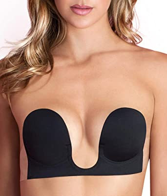 3730ca380d Fashion Forms Women s Backless Strapless U Plunge Bra at Amazon Women s  Clothing store  Self Adhesive Bras
