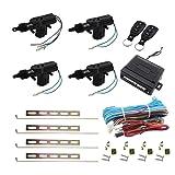 Henzxi Universal Car Power Door Lock Actuator 12V Motor (4 Actuactors + Keyless Entry) (Tamaño: 4 Actuactors + Keyless Entry)