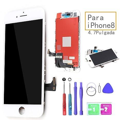 Ibaye LCD Pantalla Táctil Reemplazo para iPhone 8 Blanco De Marco Digital Un Conjunto Completo De