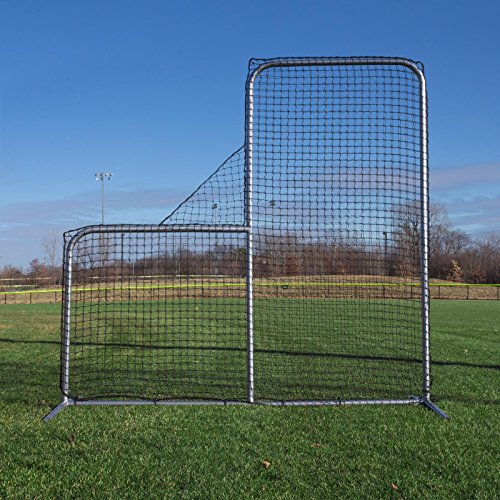 (Champro Pitcher's Safety L-Screen - 7'x7' w/ 40