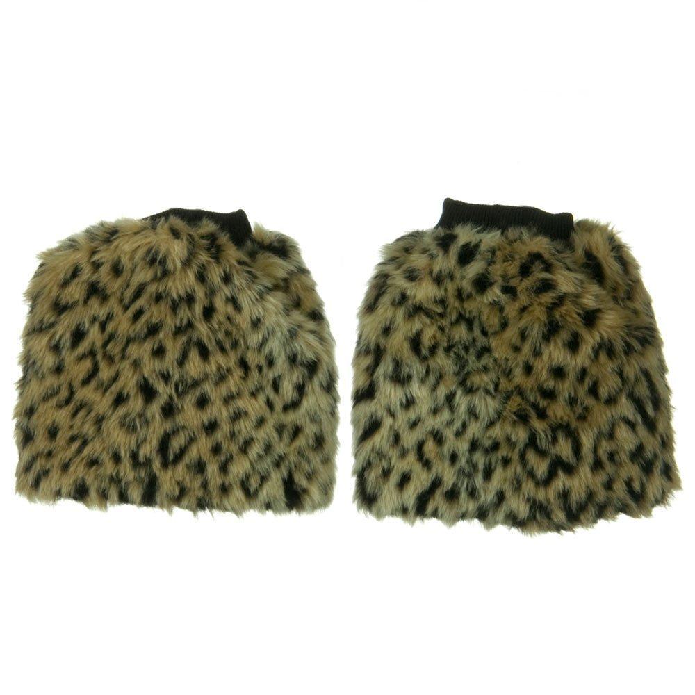 Leopard Critter Faux Fur Leg Warmer