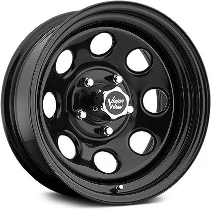 """29mm Gloss Black Wheel Rim 15/"""" Inch Vision 85 Soft 8 15x8 5x4.5/"""""""