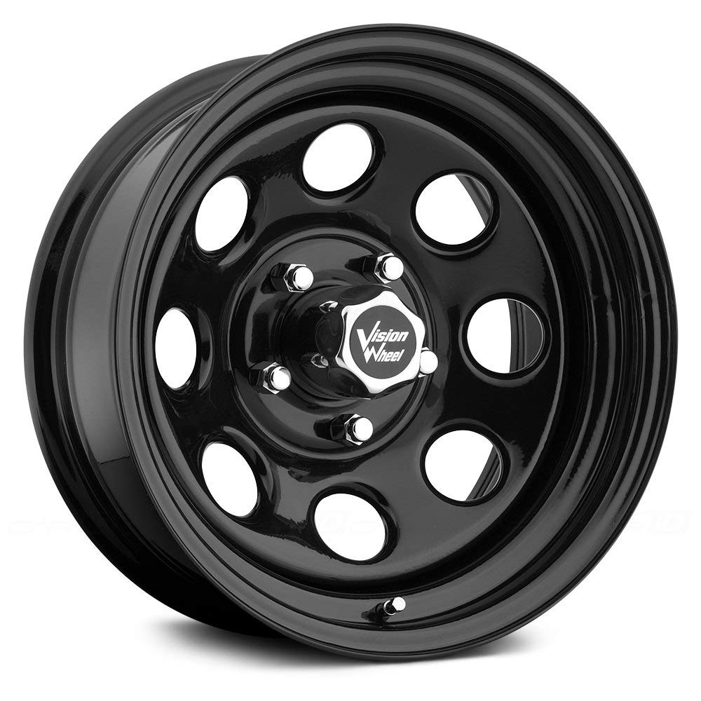 Vision 85 Soft 8 Black Wheel with Painted Finish (15x10'/5x127mm) 85H5173NS
