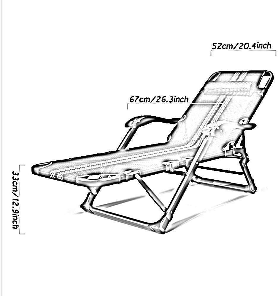 fällstolar hopfällbar vilstol för ryggstöd, kontor rygg vilstol avslappnad hem Siesta stol lat soffstol med massagearmstöd, 15 växeljustering matstol (färg: C) b