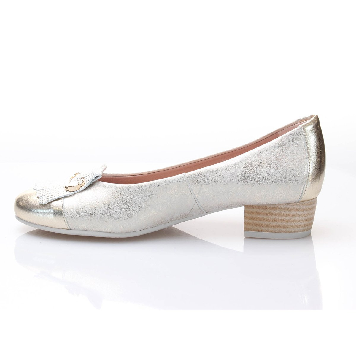Pitillos Zapato Fleco Puntera Mujer Oro 35 pBmkG