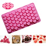 Amever Silicone Mini Heart Shape Baking Mold Heart Mold Ice Cube Chocolate Mold Jelly Candy Muffins Valentine Chocolate DIY Soap