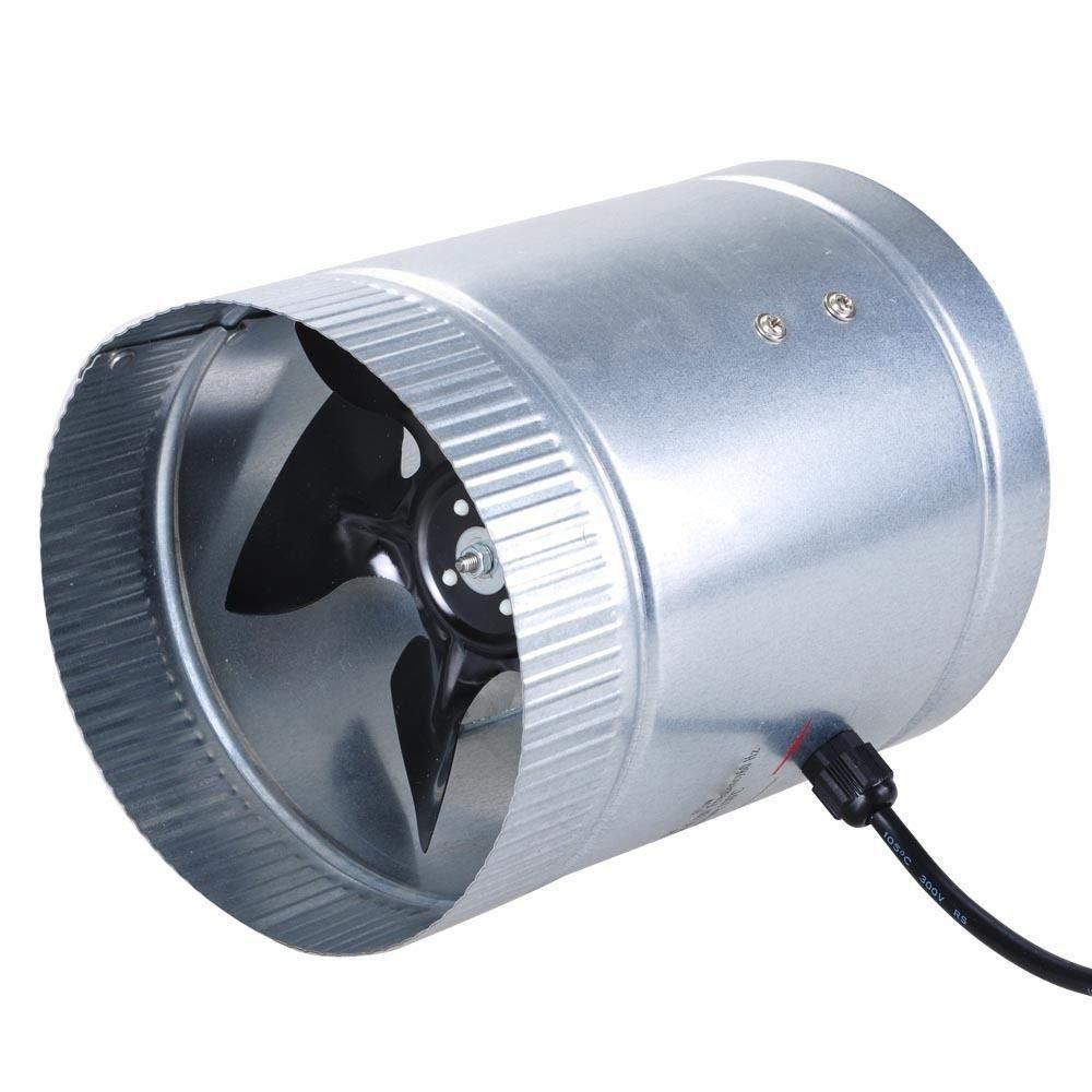 6'' Inline Duct Fan 260 CFM Booster Exhaust Blower Aluminum Blade Air Cooling Ventilation Fans