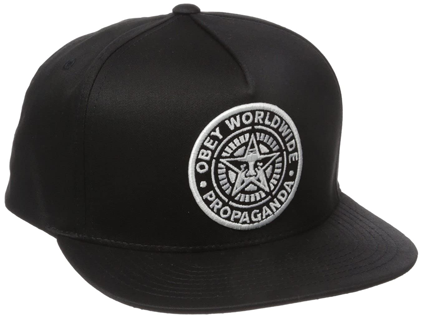 Amazon.com: Obey Mens Classic Patch Snapback Hat, Black, One Size: Clothing