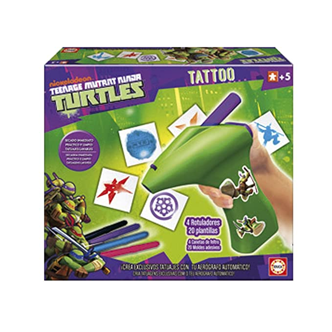 Educa Juegos - Tortugas Ninja Tattoo (15626): Amazon.es ...
