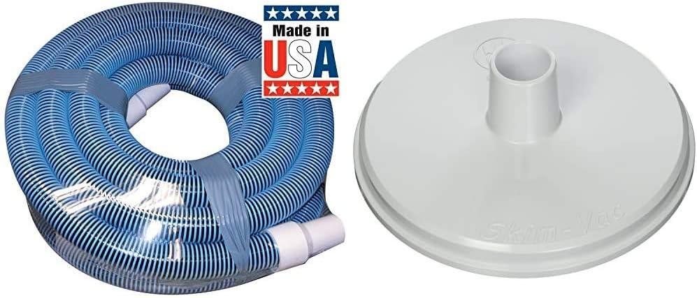 Poolmaster 33430 Heavy Duty In-Ground Pool Vacuum Hose with Swivel Cuff, 1-1/2-Inch by 30-Feet,Neutral & Hayward SP1106 Skim Vac In-Ground Pool Skimmer