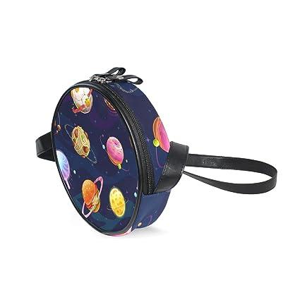 Amazon Com Kids Purse Shoulder Bag Handbag Cake Space Stars Planet