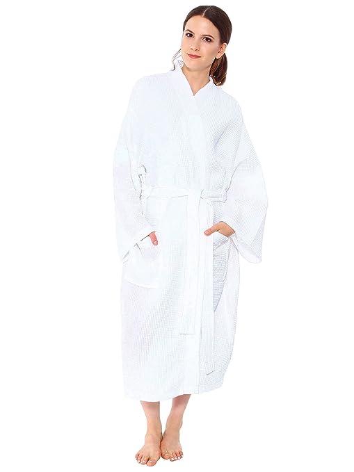 Simplicity Lightweight Waffle Bathrobe Spa Bath Robe for Men Women ...
