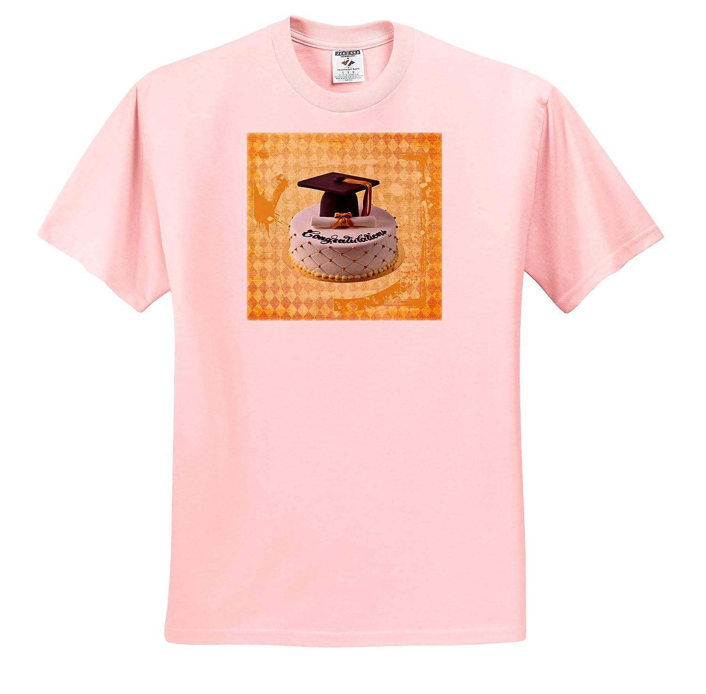 T-Shirts Diploma Cake Orange 3dRose Beverly Turner Graduation Design Black Image of Congratulations Graduation Cap