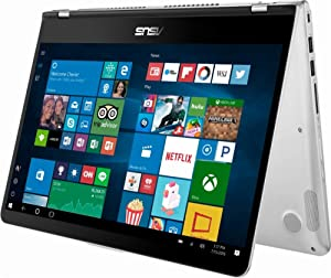 """2018 Flagship Asus 14"""" FHD IPS 2-in-1 Touch-ScreenLaptop/Tablet, Intel Quad-Core i5-8250U up to 3.4GHz 8GB DDR4 256GB SSD USB Type-C 802.11acBluetooth 4.1 Fingerprint Reader Windows Ink Win 10"""