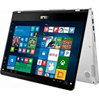 """2018 Flagship Asus 14"""" FHD IPS 2-in-1 Touch-ScreenLaptop/Tablet, Intel Quad-Core i5-8250U up to 3.4GHz 8GB DDR4 512GB SSD USB Type-C 802.11acBluetooth 4.1 Fingerprint Reader Windows Ink Win 10"""