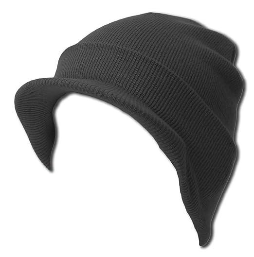 eb19bfcb76e Amazon.com  Knit Cuff Beanie Visor - Winter Wear Sports - Charcoal ...