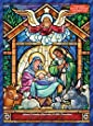 Stained Glass Nativity Chocolate Advent Calendar (Countdown to Christmas)