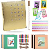Katia 120 Pockets 3-inch Photo Album Accessories for HP Sproket/Polaroid Snap Touch/Canon IVY Wireless Bluetooth Mobile Portable Mini Photo Printer Album/Frames/Hanging Frames - Rose Gold