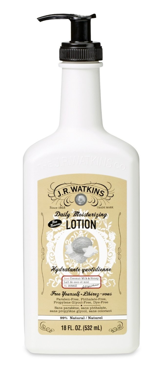 J.R. Watkins Coconut Milk and Honey Daily Moisturizing Lotion, 18 Ounces