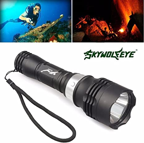 NEW Powerful 60M Waterproof 5000 Lm LED Underwater Diving Flashlight