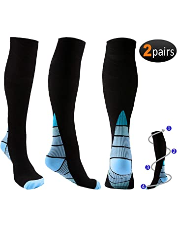Calcetines de compresión para hombre y mujer, 2 pares (20 – 30 mmHg)