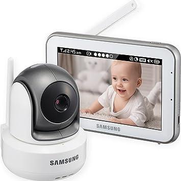 samsung baby monitor. sew-3043w - samsung wisenet brightview hd baby video monitoring system ir night vision ptz monitor u