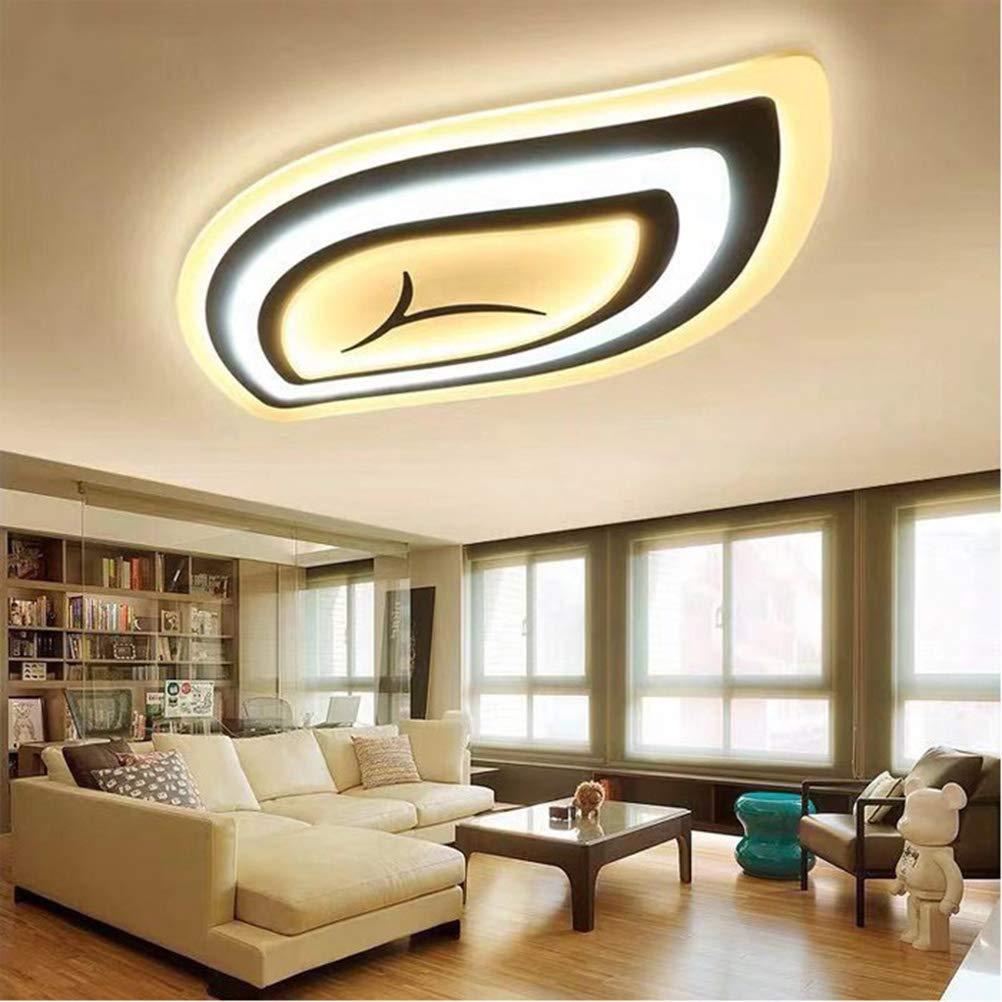 リモコン付きLED 3Dシーリングライト明るさ調節可能なリモコンリビングルーム、ベッドルーム、キッチンなどに適しています。220V   B07SC8QX4M