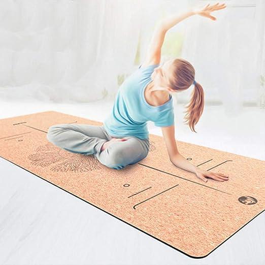jkkl India Tpe + Corcho Estera de yoga antideslizante ...