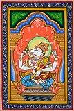 Hayagriva Avatar of Vishnu with Shakti - Paata Painting on Patti - Folk Art from the Temple Town of