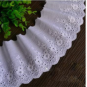 Ecru 3 Yards Retro Dot Cotton Ribbon Lace Dress Lace Craft Lace Collar Lace 4 3/8 Inches Wide Beautifuldesign