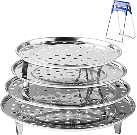 Stainless Steel Steamer Tray Rack Durable Pot Steaming Stand Kitchen Access `