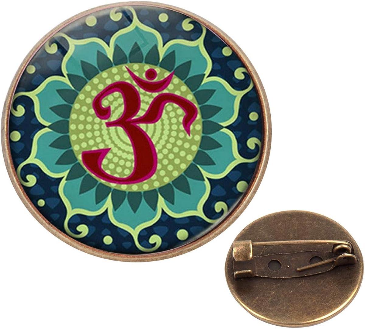 Pinback Buttons Badges Pins Purple Mandala Meaningful Spiritual Lapel Pin Brooch Clip Trendy Accessory Jacket T-Shirt Bag Hat Shoe