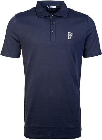 Versace Collection - Polo de algodón, Color Azul Marino Azul Azul ...
