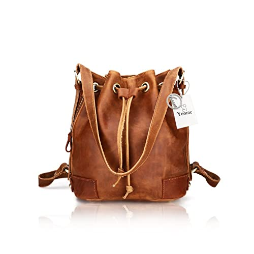 Original 2019 Vintage Cow Leather Embossing Brown Backpacks Bag Women Girls Boys Cowhide Genuine Leather Schoolbag Satchels Backpacks